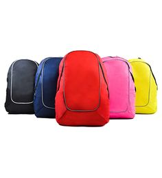 Back Pack [BP 850] Size: 34cm (L) x 21cm (W) x 49cm (H) Material: Polyster 600 D Colour: Black, navy Blue, Red, Magenta, Lime Green