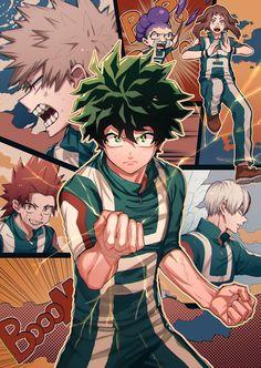 Boku no Hero Academia || Kirishima Eijirou, Katsuki Bakugou, Midoriya Izuku, Minoru Mineta, Uraraka Ochako, Todoroki Shouto.