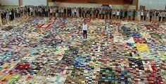 PEDRO HITOMI OSERA: Japão: manta solidária gigante, tecida por vítimas...