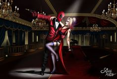 Deadpool and Harley Quinn- Crazy love by AddaWhite on DeviantArt