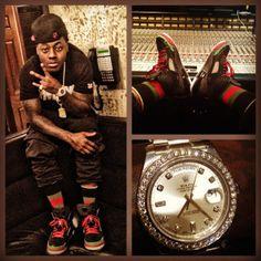 Ace Hood wearing Jordan Spiz'ike