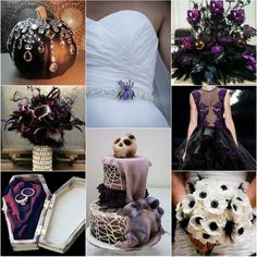 Collage de boda en Halloween - Spooky Halloween Wedding Ideas