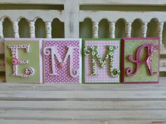 4 LETTER NAME Curlz Curly Font Custom Name Wall Personalized Child Girls Room Art New Baby Girly Princess