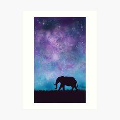 Girl Silhouette, Elephant Art, Buy Frames, Printing Process, Gallery Wall, Fantasy, Art Prints, Designs, Shoulder Bags