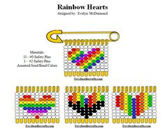 rbhearts.gif 722×567 pixels Seed Bead Patterns, Beaded Jewelry Patterns, Loom Patterns, Beading Patterns, Safety Pin Bracelet, Safety Pin Jewelry, Safety Pin Earrings, Safety Pin Art, Safety Pin Crafts
