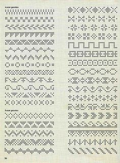 Ideas For Embroidery Stitches Border Fair Isles Fair Isle Knitting Patterns, Fair Isle Pattern, Knitting Charts, Loom Patterns, Knitting Stitches, Cross Stitch Borders, Cross Stitch Designs, Cross Stitch Patterns, Blackwork