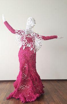 Beautiful new sculpture #crochet work from Nathalie Doolaard