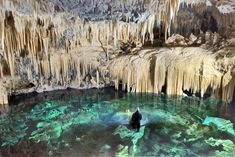 The Caves of Diros at Pyrgos Dirou in the Peloponnese, Greece ⋆ Yorkshire Wonders Greece With Kids, World Images, Next Holiday, Archaeological Site, Beautiful Places To Visit, Holiday Destinations, Far Away, Travel Around, Athens