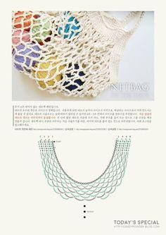 Foldable Net Bag Tahiti pattern by Fil Katia Crochet Pouch, Filet Crochet, Knit Crochet, Crochet Bags, Crochet Throw Pattern, Easy Crochet Patterns, Crochet Market Bag, Net Bag, Crochet For Beginners