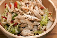 The salad made from Chinese cabbage and chicken breast-dekoking-com How To Make Salad, Food To Make, Chinese Cabbage, Cooking Recipes, Healthy Recipes, Chicken Salad, Salad Recipes, Food Photography, Chicken Recipes