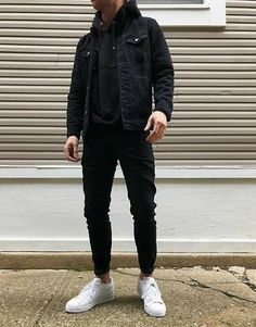 Cool Outfits For Men, Winter Outfits Men, Stylish Mens Outfits, Swag Outfits Men, Mens Casual Winter Clothes, Jean Outfits For Men, Black Outfits For Guys, Outfit Ideas For Guys, Casual Outfit For Men