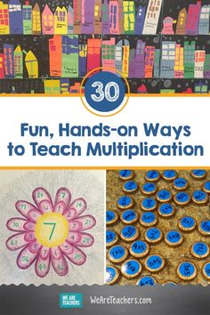 30 Fun, Hands-on Ways to Teach Multiplication. Looking for innovative ideas to teach multiplication? Get resources, lesson plans, manipulative ideas, websites and more! Multiplication Strategies, Teaching Multiplication, Teaching Math, Math Fractions, Teaching Tips, Third Grade Math, Grade 3, Fourth Grade, Second Grade