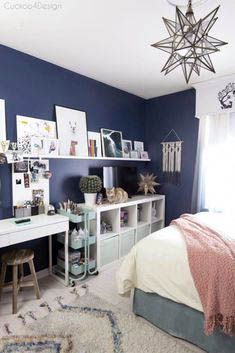 Teen Girl Bedrooms, excellent to really cushy Suggestions, image 6126079930 - Comfy and adorable teen room decor inspirations and examples. Teenage Girl Bedroom Designs, Teenage Girl Bedrooms, Small Girls Bedrooms, Blue Bedrooms, Luxury Bedrooms, Tween Girls, Baby Girls, Teen Room Decor, Home Decor Bedroom