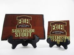 Southside Stout Beer Coaster Check out this product and may others at http://mancaveupcycle.com/shop/coasters/southside-stout-beer-coaster/