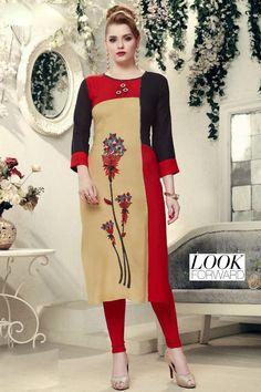 New Kurti, College Wear, Party Wear Kurtis, Office Wear, Silk Sarees, Cold Shoulder Dress, Fancy, Beige, Formal Dresses