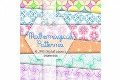 Mathemagical digital papers seamless pattern from DesignBundles.net
