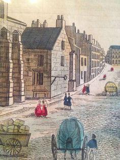 Magnificient Antique Europe Artwork Vue de L'Eglise s Giles A Edimbourg | eBay