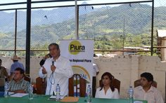 Presidente regional ing. Reynaldo Hilbck Guzmán acompañado de la gerente de saneamiento físico legal de la propiedad rural pro rural, abg. Olga Soledad Trelles Martino.