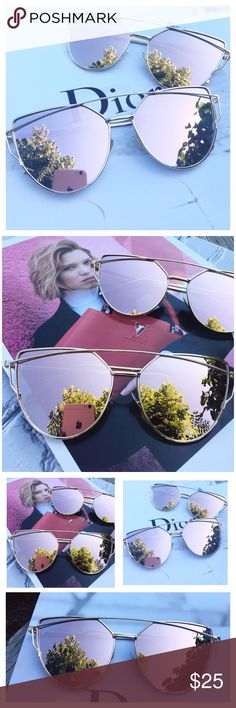 ✨HP Girly Girl Party✨Rose Gold Mirrored Sunglasses Host Pick! Restocked! Cat Eye Aviator Sunglasses. This listing is for a pair of Cat Eye aviator sunshades. Rose Gold Mirrored Sunglasses. Retro. Sunglasses. Wire sunglasses. Trending sunglasses. UV protection. Top quality! Brand new! Bundle and save!                                              ✨1 for $20, 2 for $30, 3 for $40✨ Accessories Sunglasses