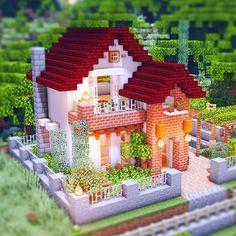 14 Minecraft House Ideas and Tutorials - Mom's Got the Stuff Construction Minecraft, Minecraft Farm, Minecraft Mansion, Minecraft Cottage, Easy Minecraft Houses, Minecraft House Tutorials, Minecraft Modern, Minecraft Plans, Minecraft House Designs