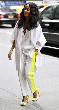 Jada Smith Neon Flow in those Nicholas Kirkwood pumps