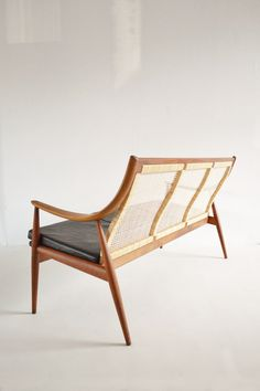 Peter Hvidt and Orla Mølgaard-Nielsen; #FD146 Teak and Cane Sofa for France & Son, 1950s.