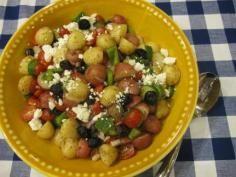 Greek Potato Salad Broccoli #salads #JillsTable Greek Potato Salads, Greek Potatoes, Broccoli Salads, Fruit Salad, Recipes, Food, Fruit Salads, Meal, Food Recipes