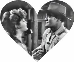 Patricia Blair and Chuck Connors. Patricia Blair, Chuck Connors, The Rifleman, Rabbit Ears, Westerns, Romance, Female, Romance Film, Romances
