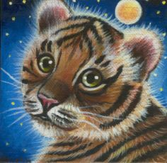 Big Cat Tiger Mini Painting