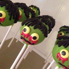 12 Zombie Cake Pops Apocalypse Party Favors Treats