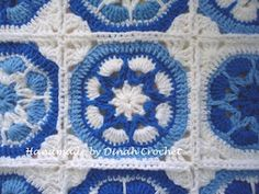 Dinahs Crochet: African flower pillow cover