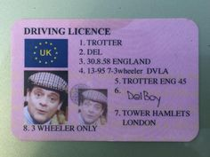 British police found a fake driver's licence featuring Del Boy from 'Only Fools and Horses.