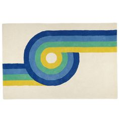 Shop 4 x 6'  Roller Rink Rug (Blue).  The handcrafted, 100% wool construction and colorful design of our Roller Rink Rug reminds us of a time when hairspray and disco balls meant a good time.