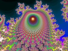 "Benoît Mandelbrot's ""fractal"" describes a shape that appears similar at all levels of magnification. Fractals occur in nature."