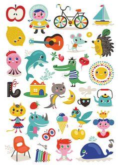 ABC poster stickers by Helen Dardik