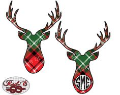 Plaid Buck Monogram by RedEorKnot on Etsy https://www.etsy.com/listing/257209063/plaid-buck-monogram