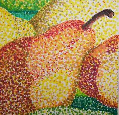 pointallism pears by karolann1229, via Flickr