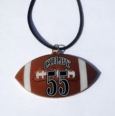Buy Personalized Football Pendant Necklace Customized Team Gifts Fans Moms by sherrollsdesigns. Explore more products on http://sherrollsdesigns.etsy.com