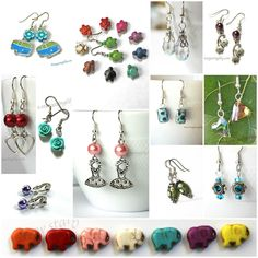 Visit the earring section of our shop. We have over 80 pairs to choose from and are adding more all the time!