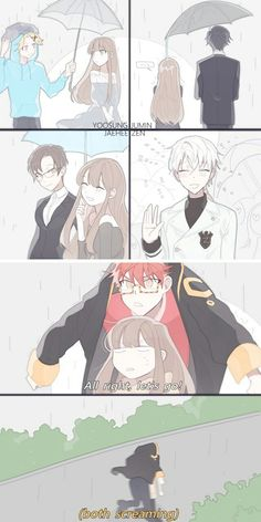 Mystic Messenger Yep the last one is what I usually do...