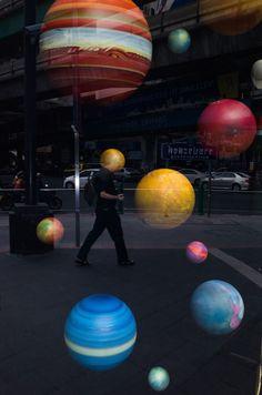 balloon, sphere, ball, full length, one person
