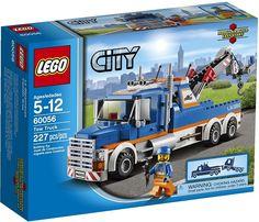 LEGO City Great Vehicles 60056 Tow Truck vehicle driver heavy duty crane arm F/s - Go Shop Hobbies & Toys Truck Boxes, Tow Truck, Big Trucks, Crayola Pens, Bateau Lego, Lego Building Sets, Kms California, Lego City Sets, Lego City Police