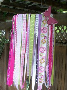 Ribbon mobile for above changing table