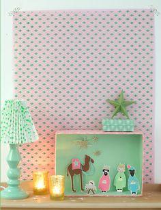 Pastel Nativity Scene