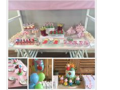 Pretty Pink theming for a five year old's Peppa Pig Party