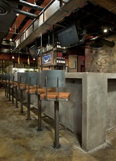 Great concrete bar.