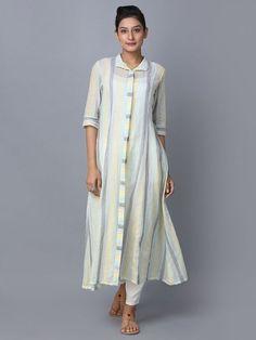 Multicolor Striped Cotton Shirt Dress is part of Cotton shirt dress - Simple Kurti Designs, Salwar Designs, Kurta Designs Women, Kurti Designs Party Wear, Blouse Designs, Kurta Patterns, Cotton Shirt Dress, Striped Shirt Dress, Kurta Neck Design