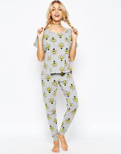 ASOS Lightbulbs Tee & Legging Pyjama Set