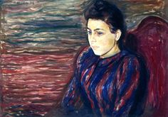 bofransson:  Inger in Black and VioletEdvard Munch - 1892