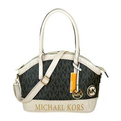 Michael Kors Bedford Logo Monogram Large Coffee Totes